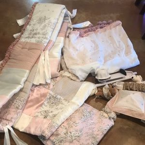 Glenna Jean baby bedding!  Pink French toile